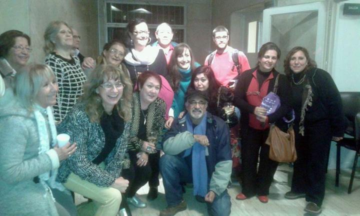 Con mis compañeros participamos de la celebración que organizó Cultura y la SADE Mendoza por el Día del Escritor.