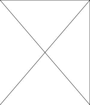 Blanco, con una x de vértice a vértice